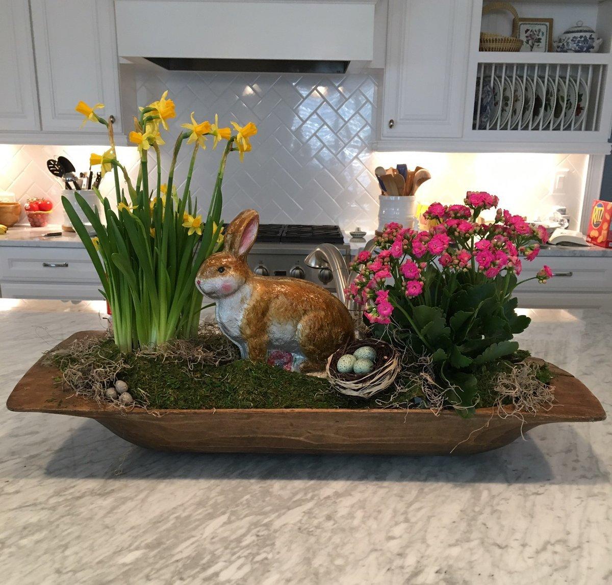 spring decor, spring decor ideas, easter decor, dough bowl, dough bowl seasonal decor, dough bowl spring decor, dough bowl easter decor