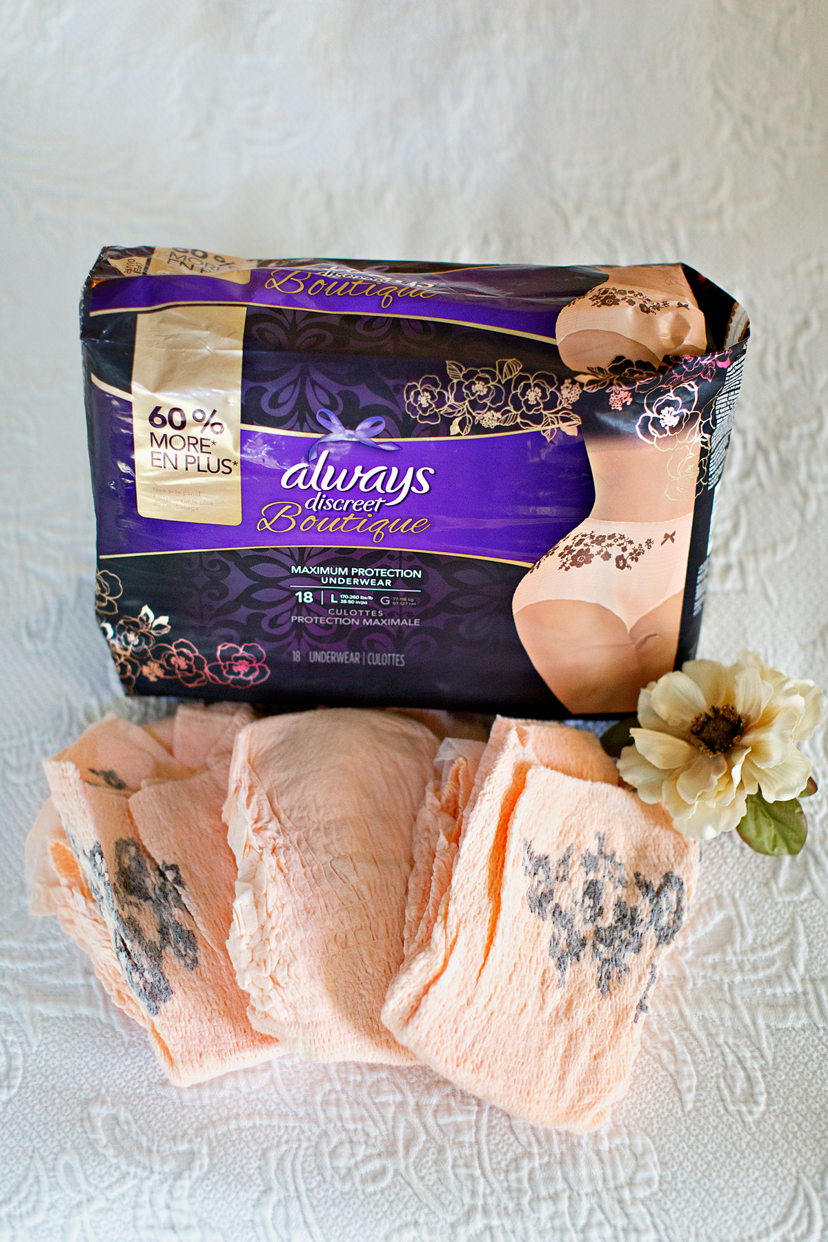 P&G, proctor and gamble, always discreet, always discreet underwear, always discreet boutique, always discreet coupons, incontinence, bladder leakage, midlife health, empty nester, empty nest, empty nesters, p&g everyday, p&g coupons, empty nest full life, pantene coupons, Swiffer coupons, charmain coupons, bounty coupons, self care for empty nesters, empty nest blog, empty nester blog, help for empty nesters, drugstore hair care product