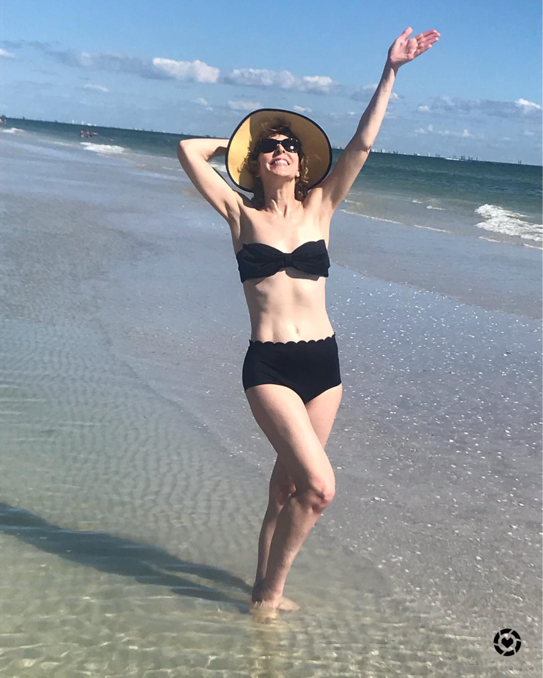 woman in bikini on a beach