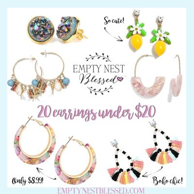 collage of earrings under $20