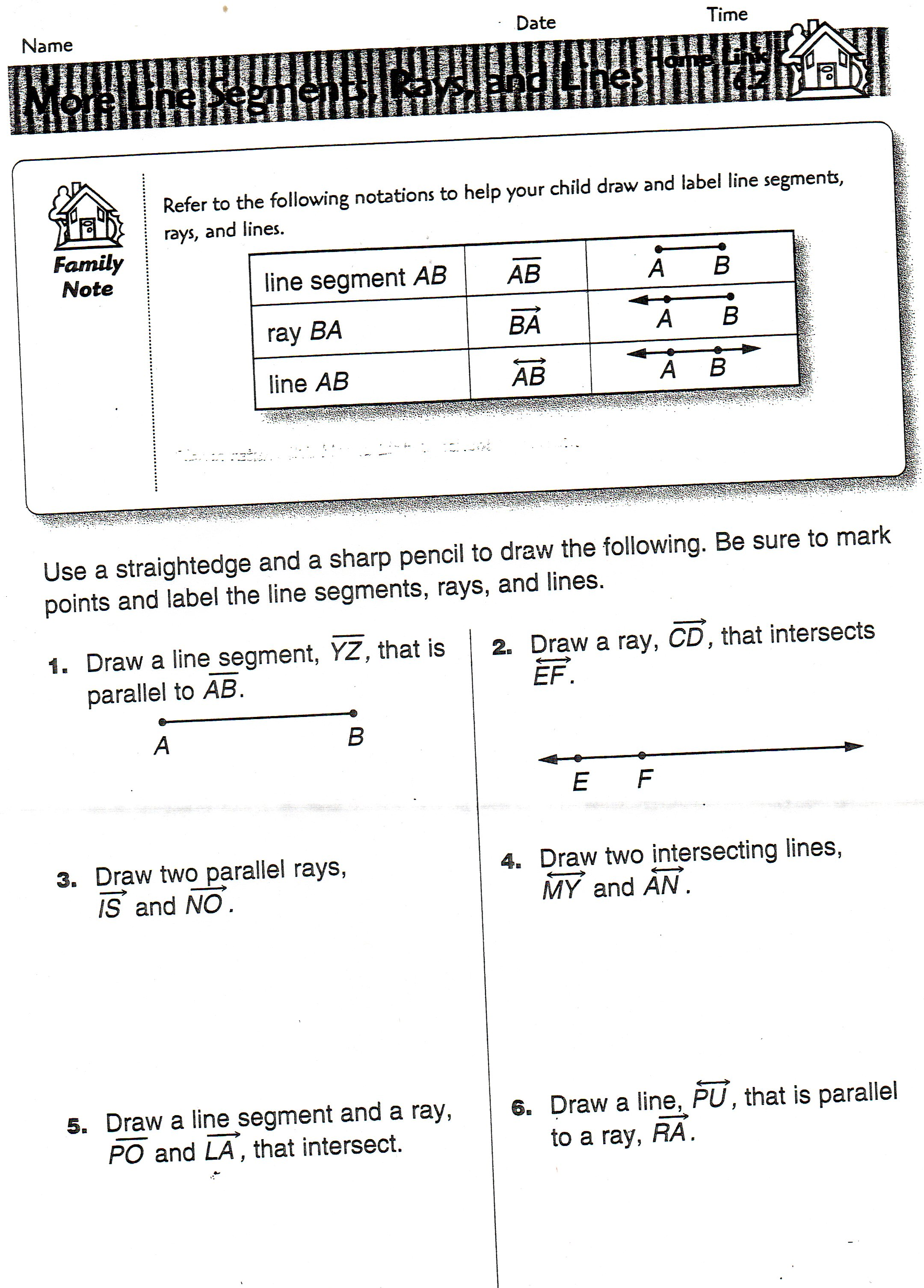 Segment Worksheet