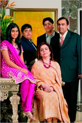 Antilia 00 - Mukesh Ambani and family