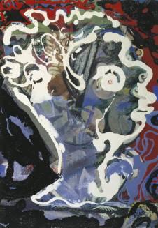 'Head of Dylan Thomas', 1960, by Eileen Agar