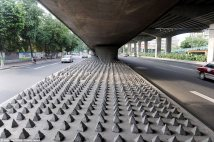 Anti-shelter concrete spikes