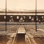 Antiga estação ferroviária de Ribeirão Preto, onde atualmente funciona a UBDS Central. Arquivo Público e Histórico de Ribeirão Preto