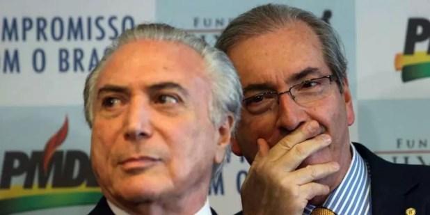 Ex-presidente Michel Temer e Eduardo Cunha