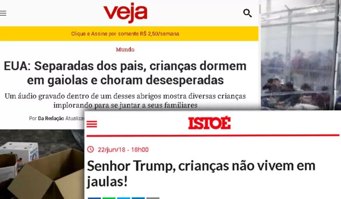 Montagem: Mídia brasileira desmoraliza ex-presidente americano