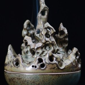 Tibetan Eternal Flame Ceramic Incense Burner