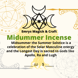 Midsummer Incense 1 oz