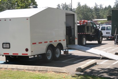 All the JISCC equipment fits in this trailer and truck.