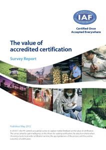 IAF Research Report: The Value of Accredited Certification