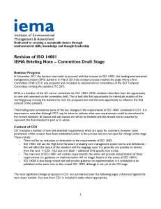 IEMA Briefing Note – Committee Draft Stage