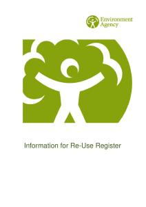 Information for Re-use Register