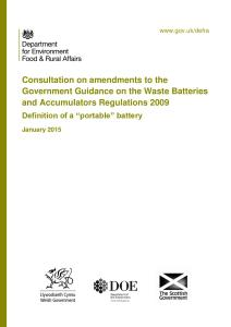 "Consultation document: Definition of a ""portable"" battery"