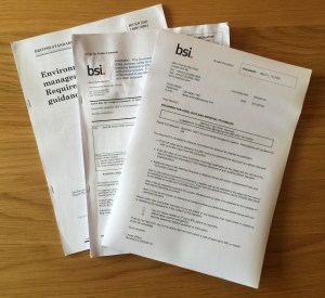 The revision of ISO 14001 moves to the final Draft International Standard before final publication in September 2015