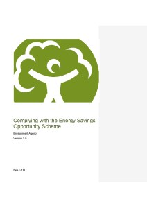 "The Environment Agency has published version 5 of its guidance on ""Complying with the Energy Saving Opportunity Scheme"""
