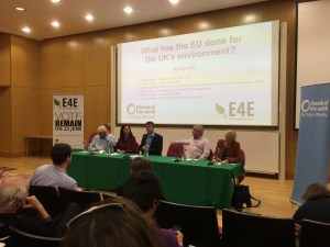 'What has the EU ever done for the UK environment? brought together a panel of political and environmental experts to debate the impact of the EU on the UK environment