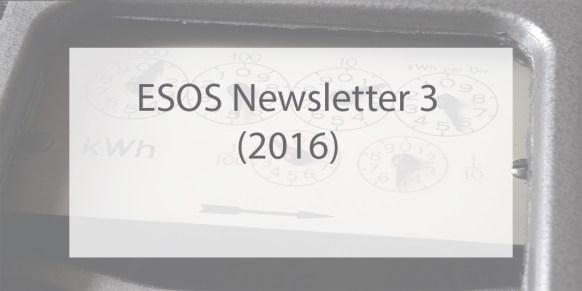 ESOS Newsletter Issue 3 2016