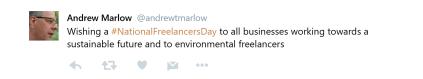 Tweet on National Freelancers Day 2017