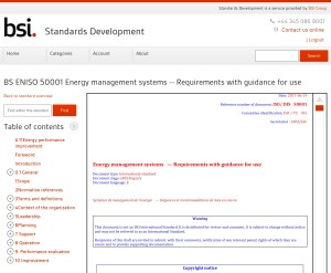 Free access to ISO DIS 50001 is available at the BSI Standards Development portal