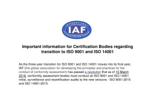 IAF_communique on ISO 14001