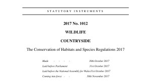 The Conservation of Habitats and Species Regulations 2017