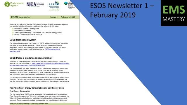 ESOS Newsletter 1 – February 2019