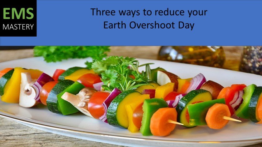 Three ways to reduce your Earth Overshoot Day