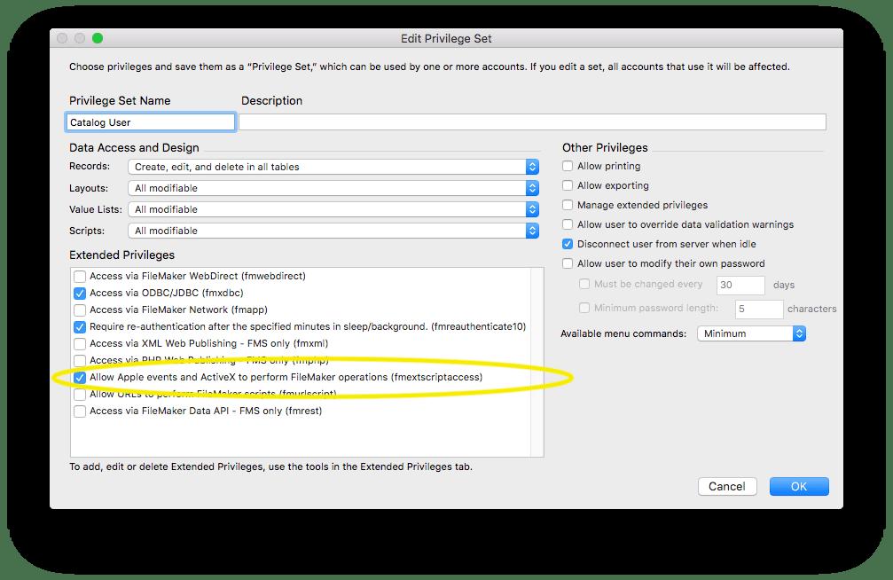 Setting up a filemaker datasource | 65bit software.