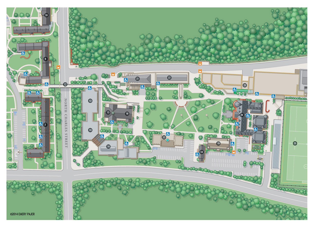 Geor own University Map which could be a form of bias in a map