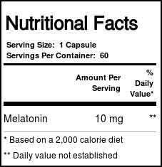 Melatonina Life Extension 10 mg 60 cápsulas