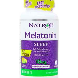 Melatonina 10mg Fast Dissolve (Dissolve na boca) – Natrol – 60 comprimidos