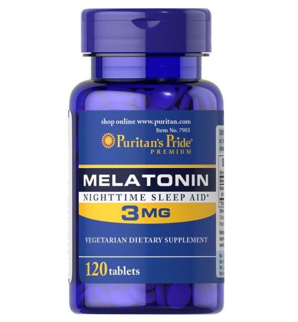 Melatonina 3 mg Puritan's Pride – 120 Comprimidos