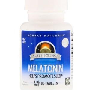 Melatonina 1 mg Source Naturals,100 Comprimidos