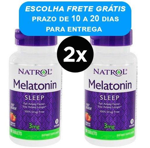 Melatonina 3mg Natrol Dissolvivel