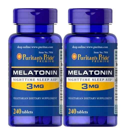 Melatonina 3mg – Puritan's Pride – 240 Comprimidos