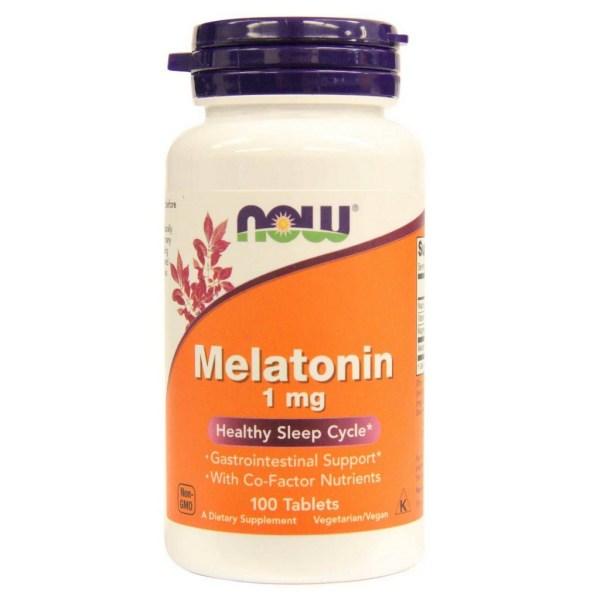 Melatonina 1mg Now foods 100 comprimidos