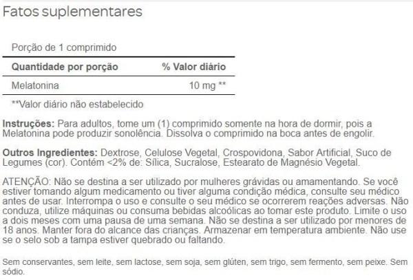 Leve 3 Pague 2 – Melatonina Dissolução Rápida Puritan's Pride 10mg, 90 comprimidos Sabor Morango