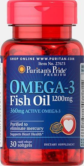 Ômega 3 Óleo de Peixe 1200 mg, 30 cápsulas (com 360 mg de Ômega-3 Ativo)