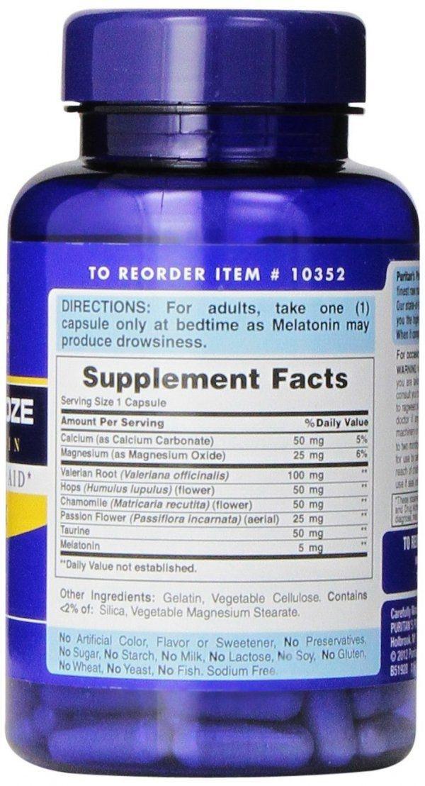 Melatonina Super Snooze 5 mg, 100 Cápsulas Rápida Liberação