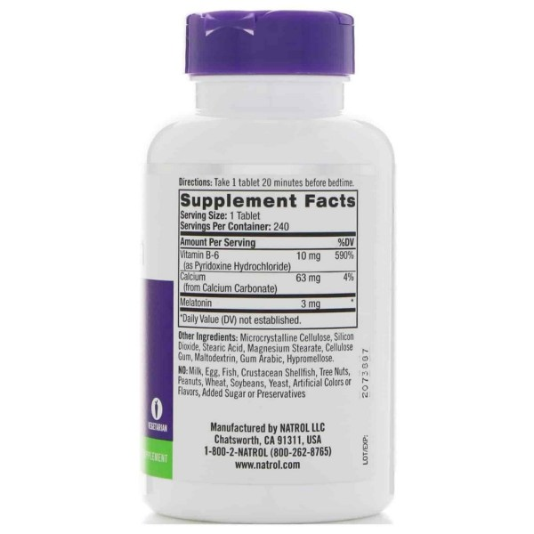 Melatonina 3mg Natrol 240 comprimidos