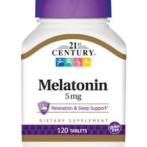 Melatonina 5 mg 21st century 120 comprimidos