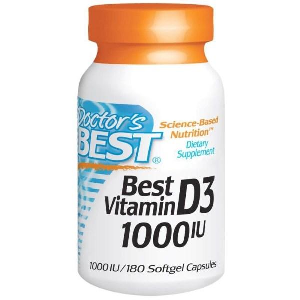 Vitamina D3 – Doctor's Best – 1000 IU – 180 Cápsulas