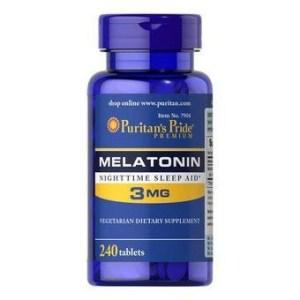 Melatonina 3mg - Puritan's Pride - 240 Comprimidos