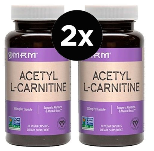 2x Acetil L-Carnitina 500 mg – MRM – 60 cápsulas