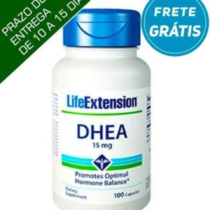 Dhea 15mg Life Extension, 100 capsulas FRETE GRÁTIS