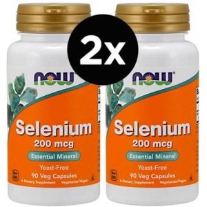 2X Selênio Now Foods – 200 mcg – 90 Vcaps