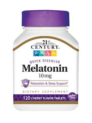 Melatonina 10mg Century 120 Comprimidos de Dissolução Rápida – Sabor Cereja – Leve 1 Frasco