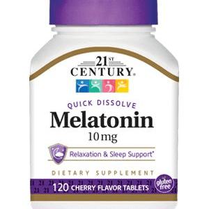 Melatonina 10mg Century 120 Comprimidos de Dissolução Rápida