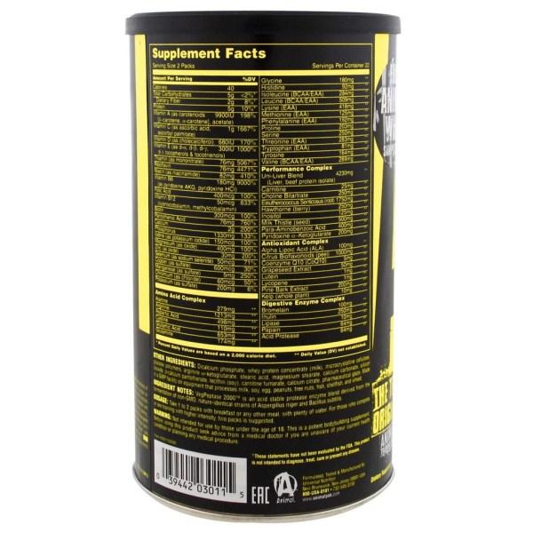 Animal Pak 44 Pacotes Importado Universal Nutrition